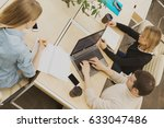 top view shot of group of... | Shutterstock . vector #633047486