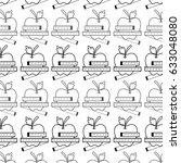 figure delicious apple fruit... | Shutterstock .eps vector #633048080