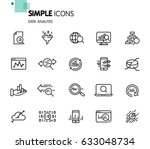 simple set of data analysis... | Shutterstock .eps vector #633048734