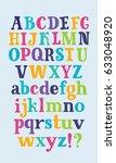 vector cartoon serif set of... | Shutterstock .eps vector #633048920