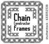 seamless vector chain frames...   Shutterstock .eps vector #633052538