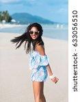 lifestyle summer tropical... | Shutterstock . vector #633056510