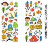 summer camp children  kids...   Shutterstock . vector #633056906