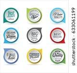 modern badges colorful... | Shutterstock .eps vector #633061199