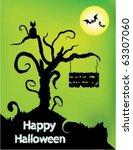 halloween themed design | Shutterstock .eps vector #63307060