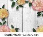 flower border for mother's day | Shutterstock . vector #633072434