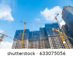 construction site next to... | Shutterstock . vector #633075056