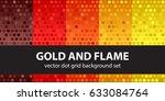 "polka dot pattern set ""gold and ... | Shutterstock .eps vector #633084764"