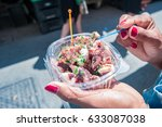 squad snacks at the market at... | Shutterstock . vector #633087038