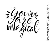 your are magical text... | Shutterstock .eps vector #633092414