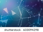 abstract polygonal space low... | Shutterstock . vector #633094298