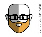 man with beard  glasses and... | Shutterstock .eps vector #633104339