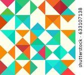 mosaic geometric pattern.... | Shutterstock .eps vector #633107138