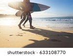 Australian Surfers Walking...