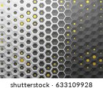 white shaded abstract geometric ... | Shutterstock . vector #633109928