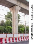 Small photo of Image of abutment rail track in site construction near the road
