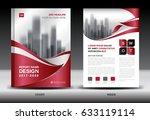 business brochure flyer... | Shutterstock . vector #633119114
