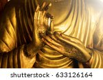 part of golden buddha image in... | Shutterstock . vector #633126164