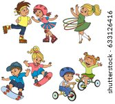 sport kid elements set  | Shutterstock .eps vector #633126416