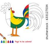 beautiful farm cock  the... | Shutterstock .eps vector #633127034