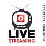 tv media live streaming | Shutterstock .eps vector #633127136