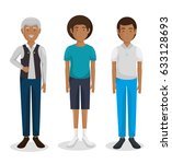family group characters icon   Shutterstock .eps vector #633128693