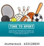 sports equipment flat icons | Shutterstock .eps vector #633128834