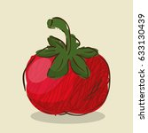 tomato fresh and healthy...   Shutterstock .eps vector #633130439
