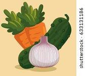healthy food vegan icons   Shutterstock .eps vector #633131186