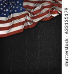 america usa flag vintage on a... | Shutterstock . vector #633135179