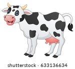 cute cow cartoon | Shutterstock . vector #633136634