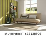 white room with sofa and green... | Shutterstock . vector #633138908