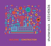 building and construction... | Shutterstock .eps vector #633140636