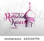 ramadan calligraphy vector with ... | Shutterstock .eps vector #633144794