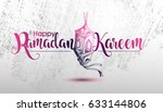 ramadan calligraphy vector with ... | Shutterstock .eps vector #633144806