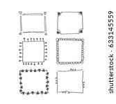 frames doodles | Shutterstock .eps vector #633145559