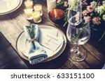 reserved service elegance... | Shutterstock . vector #633151100