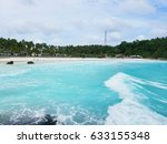 beautiful sandy beach on a... | Shutterstock . vector #633155348