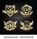football  and soccer logo... | Shutterstock .eps vector #633155618