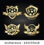 football logo. soccer brand... | Shutterstock .eps vector #633155618