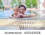 happy asian father and cute... | Shutterstock . vector #633163028