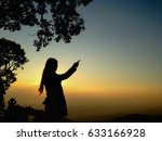 shadow of the sunset | Shutterstock . vector #633166928