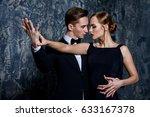 beautiful passionate dancers... | Shutterstock . vector #633167378