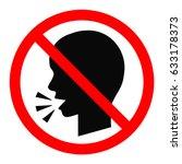 no talking sign. vector...   Shutterstock .eps vector #633178373