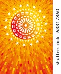 Abstract Orange Fireworks....