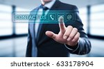 contact us support service... | Shutterstock . vector #633178904
