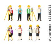 surveyor character design... | Shutterstock .eps vector #633183788