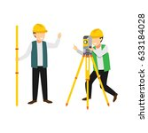 surveyor character design... | Shutterstock .eps vector #633184028
