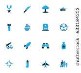 combat colorful icons set.... | Shutterstock .eps vector #633184253