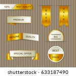 golden banner set.vector luxury ... | Shutterstock .eps vector #633187490